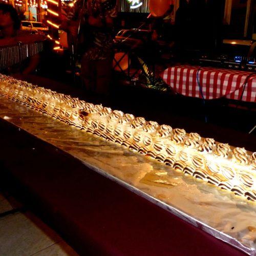 Postre: Omelette Norvegienne.  Un gran dulce tan rico y flameado que no duro mucho su degustación