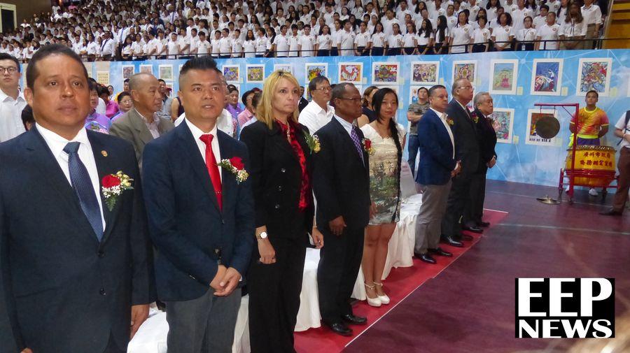 Acto de celebracion en el Chino Panameño con autoridades locales y representantes de asociaciones Chino -Panameñas